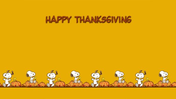 Thanksgiving snoopy-Wallpaper-Backgrounds-Widescreen